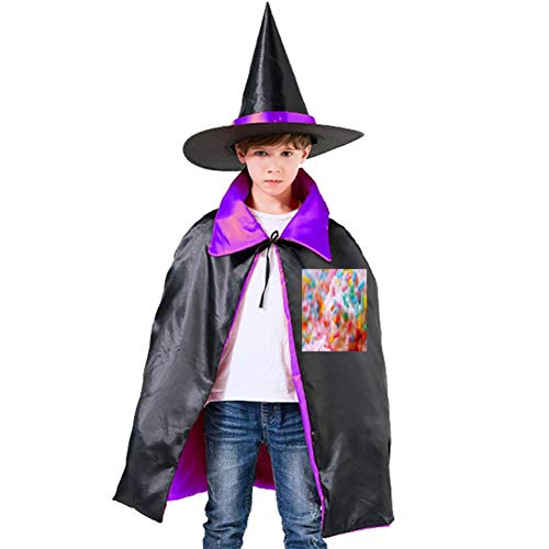 (One of my Multicolored Dessert Halloween Shawl and Witch Hat for Children Kids)