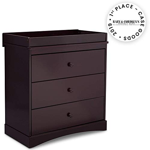 Delta Children Sutton 3 Drawer Dresser with Changing Top, Espresso Java
