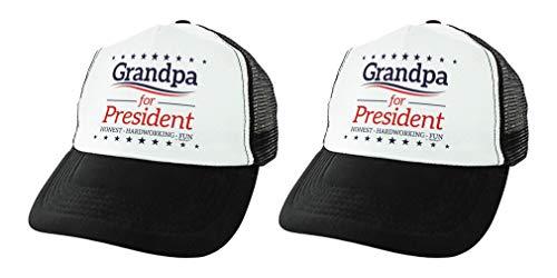 Grandpa Gift Grandpa for President Grandparents Day Gift Grandpa Fathers Day Hat 2-Pack Trucker Hats