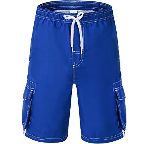 - Akula Boys' Barracuda Swim Trunks Quick Dry Beach Board Shorts with Mesh Lining Royal Blue Size S(8)