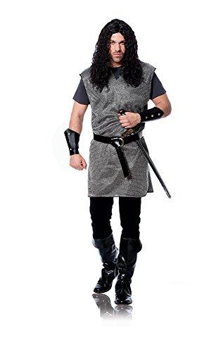 [Costume Culture Men's Medieval Tunic Costume, Silver, Standard] (Medieval Man Costume)