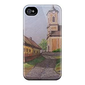 Case Cover Peaceful Village/ Fashionable Case For Iphone 4/4s