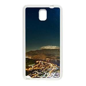 Bright City Night White Phone Case for Samsung Galaxy Note3 wangjiang maoyi