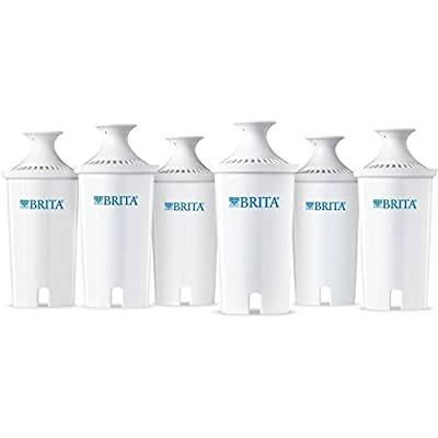 Brita Water Filter Pitcher Replacement Filters, 6 Count, BPA Free