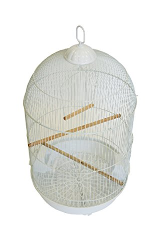YML A1564 Bar Spacing Round Bird Cage, White, Small by YML