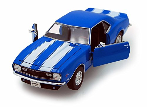 1968 Chevy Camaro Z/28, Blue - Welly 22448 - 1/24 scale Diecast Model Toy Car