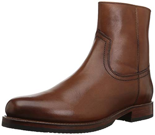 Frye Men's Sawyer Inside Zip Fashion Boot, Cognac, 12 M M US