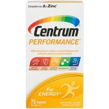 Centrum Performance Multivitamin, 75 tablets