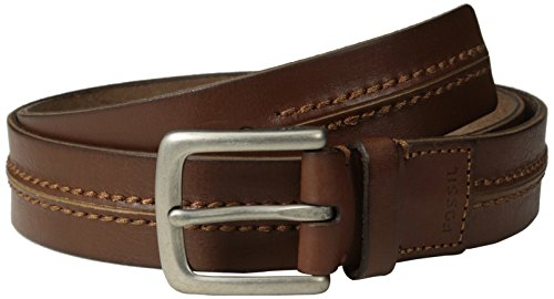 Fossil Leather Genuine Belt (Fossil Men's Theo Belt, Tan,)