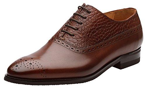 Dapper Schoenen Co. Handgemaakte Lederen Heren Klassieke Brogue Oxford Leer Gevoerd Jurk Oxfords Schoenen Sequoia