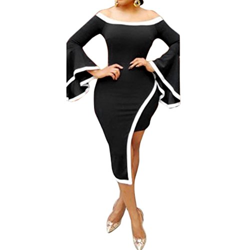 Buy bell sleeve black dress - 4