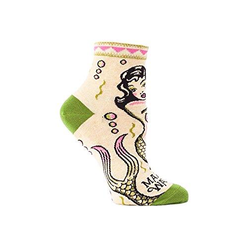 Blue Q Makin' Waves Women's Ankle Socks, multi, 5-10