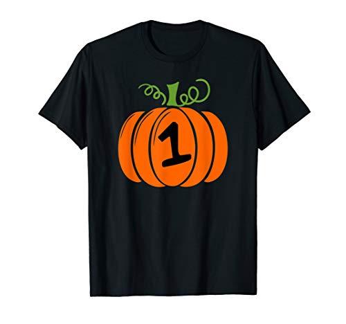 1 Jack-O'-Lantern Pumpkin Halloween-Birthday T-Shirt