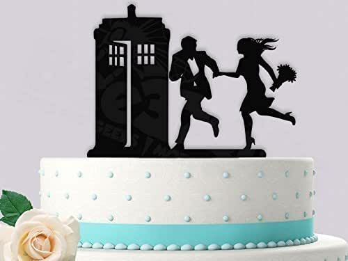Hurry to the Police Call Box Wedding Cake Topper