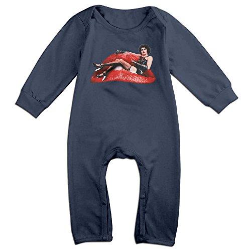 Baby Rocky Horror Costume (Ahey Babys American Horror Comedy Film Long Sleeve Bodysuit 6 M)