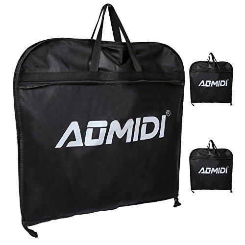 Garment Bags - 60 - Inch Foldover Breathable Garment Bag with Handles and Gusset - Black (Boyt Shoulder Bag)