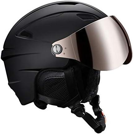 KUYOU Ski Helmet Snow Goggles Adult Lightweight Convertible Snowmobile Snowboard Helmet for Women Men