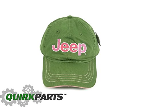 BRAND NEW GREEN AND PINK ADJUSTABLE JEEP HAT CAP ONE SIZE FITS MOST (1 Ave Grand)