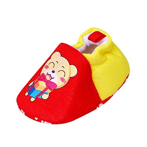 Baby schuhe,Sunyoyo Neugeborenes Baby Mädchen Jungen Weich Karikatur Prewalker Beiläufig Flache Schuhe Rot