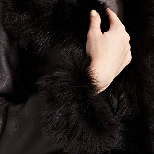 Daim To Pour A Disponible Noir Avec Pas Napa Les 4 Long Capot Manteau Femmes En Leather Z De 3 Cascade 7RxqwXxd