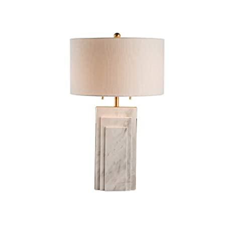 YWY Mármol Moda Metal lámpara de Mesa luz Modelo habitación ...