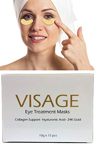 Eye Treatment Masks with Collagen, Hyaluronic Acid-- Mois...