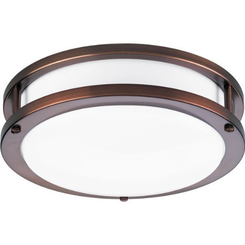 Progress Lighting P7249-174EBWB Round Wall/Ceiling Acrylic Fixture, Urban Bronze - Architectural Bronze Finish Ballasts