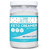 Kiss My Keto MCT Oil Powder - Keto Creamer Birthday Cake, 30 Servings, Zero Net Carbs, Ketogenic Friendly Coffee Creamer, Easy to Mix, Absorb, Digest for Ketosis, Medium Chain Triglyceride Supplement
