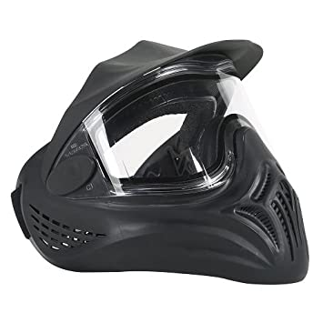 Empire Paintball Maske Helix Thermal - Balines de plástico para Airsoft, Color Negro, Talla