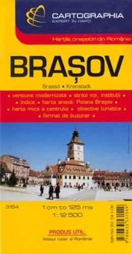 Brasov Romanian City Map Amazon Co Uk 9789633531549 Books