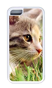 Customized Case Cute cat White for Apple iPhone 5C