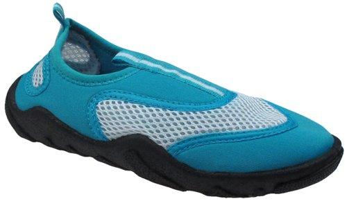Capelli New York Neoprene & Mesh Girls Aqua Shoes White Combo 10/11 Toddler White Combo Footwear