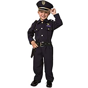 Dress Up America Toddler Deluxe Police Officer Costume Set - T4 - Navy