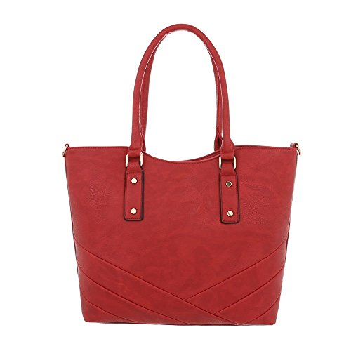 Design à à pour Ital l'épaule porter Rouge femme Sac 7WdTqg