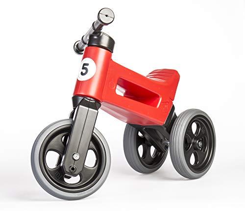 PlayMonster Free Wheelin' Rider Convertible Balance Bike, Ruby Red]()