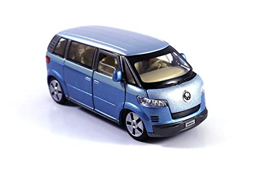 HCK 2001 VW Microbus Family Van Diecast Model Toy Car in Blue