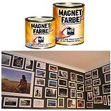 Pittura magnetica vernice calamitata ® Confezione da 0,50 Lt - Magnet Farbe - da muro e per superfici
