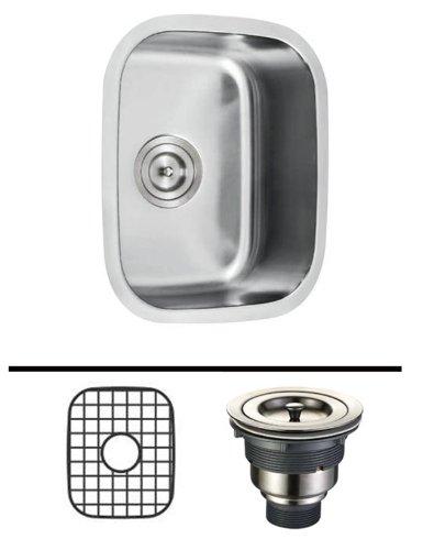 18 Inch Stainless Steel Undermount Kitchen Island  Bar Sink - 18 Gauge Accessories Combo