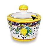 Arte D'Italia Imports Hand Painted Italian Ceramic Alcantara Sugar Bowl - Handmade in Deruta