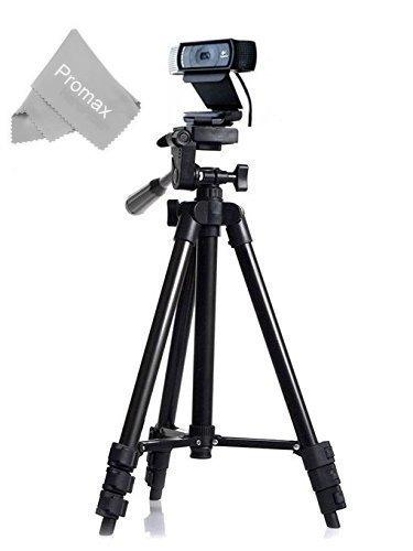 50'' Professional Camera Tripod Mount Holder Stand for Logitech Webcam C930 C920 C615-Black