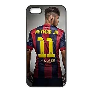 Neymar de Barcelona M3S88J1DV funda iPhone 4 4s Funda Caso de la cubierta J2MD86 negro