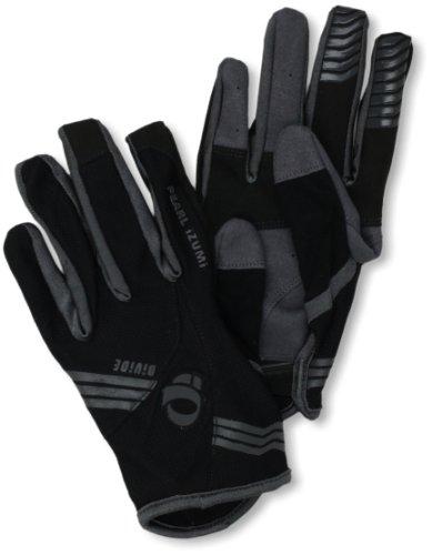 Pearl Gloves Izumi Spandex (Pearl iZUMi Men's Divide Glove, Black, Small)