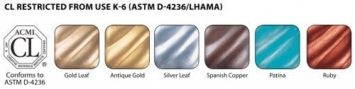 Rub N Buff Wax Metallic Finishes 6 Color Sampler Set 76336R by Rub N Buff