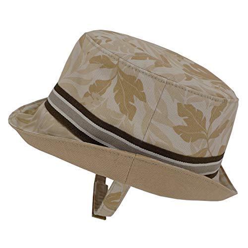 Keepersheep Infant Baby Toddler Boys' Girls' Sun Bucket Hat, Newborn Fisherman Bucket Hat (6-12 Months, Khaki Print)