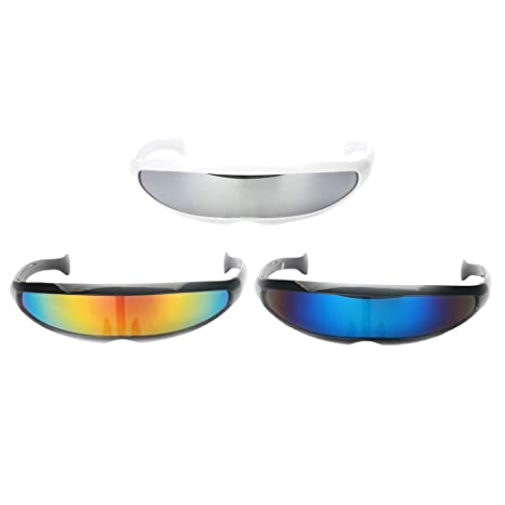 Sharplace 3X Gafas de Sol Diseño Futurista Monobloque ...