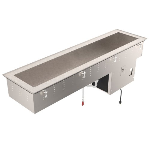 Vollrath 36658 Drop-In Four Pan Short Sided Cold Well (8 inch Deep Well)
