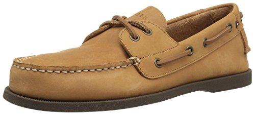 Tommy Hilfiger Men's BOWMAN10 Shoe, Brown, 10 Medium US Brown Boat Shoe
