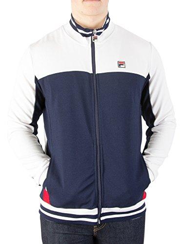 Mens Vintage Track Jacket - Fila Vintage Men's Tiebreaker Track Jacket, Blue, Small