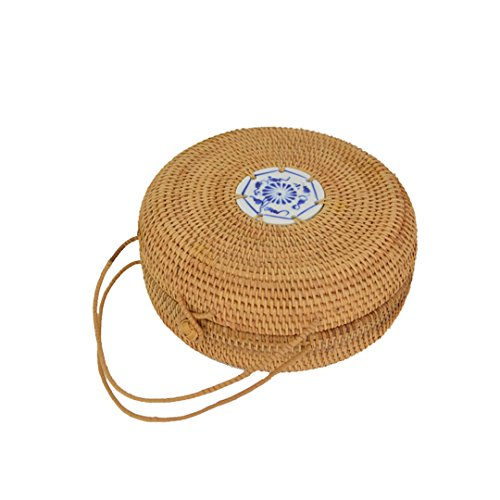 A4663 Wedding Rattan Personality Summer 21 Bag Models Made Decoration Bamboo Cm Rattan Bag Beach Hand 1TqOAw