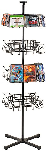 Marvolus 172-4CD/DVD-8 Economical Cd & Dvd Floor Spinner Rack